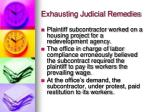 exhausting judicial remedies