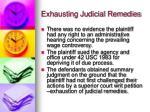 exhausting judicial remedies1