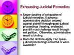exhausting judicial remedies2