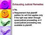 exhausting judicial remedies3
