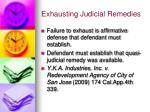 exhausting judicial remedies4