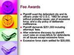 fee awards