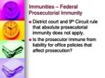 immunities federal prosecutorial immunity1