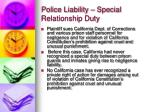 police liability special relationship duty1