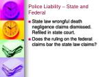 police liability state and federal1