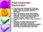 public employment discrimination