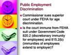 public employment discrimination1
