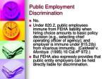 public employment discrimination2