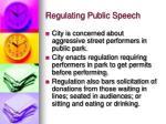 regulating public speech