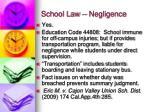 school law negligence2