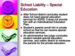 school liability special education