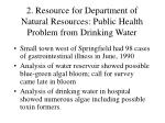 2 resource for department of natural resources public health problem from drinking water