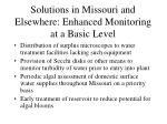 solutions in missouri and elsewhere enhanced monitoring at a basic level