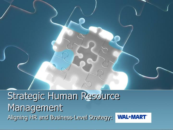 strategic human resource management n.