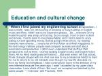 education and cultural change