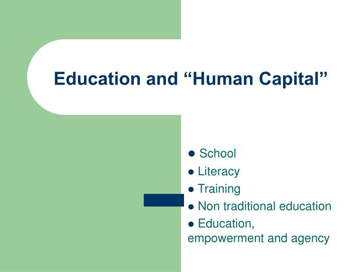 education and human capital n.
