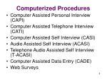 computerized procedures