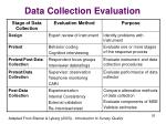 data collection evaluation