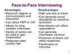 face to face interviewing