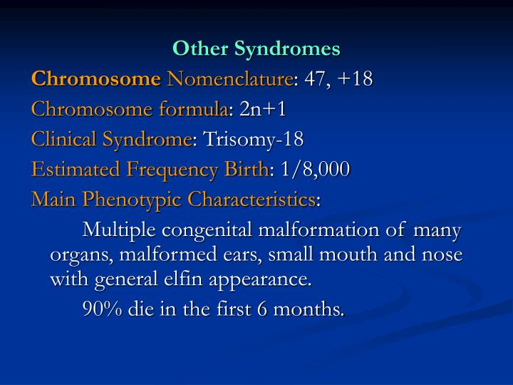 Other Syndromes