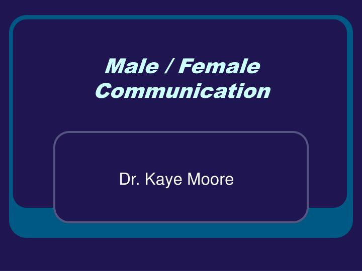 male female communication n.