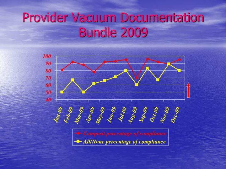 Provider Vacuum Documentation Bundle 2009