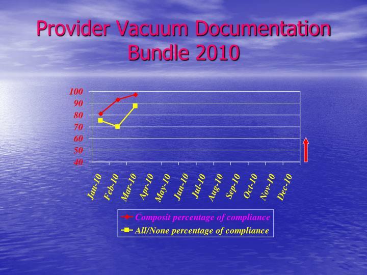 Provider Vacuum Documentation Bundle 2010