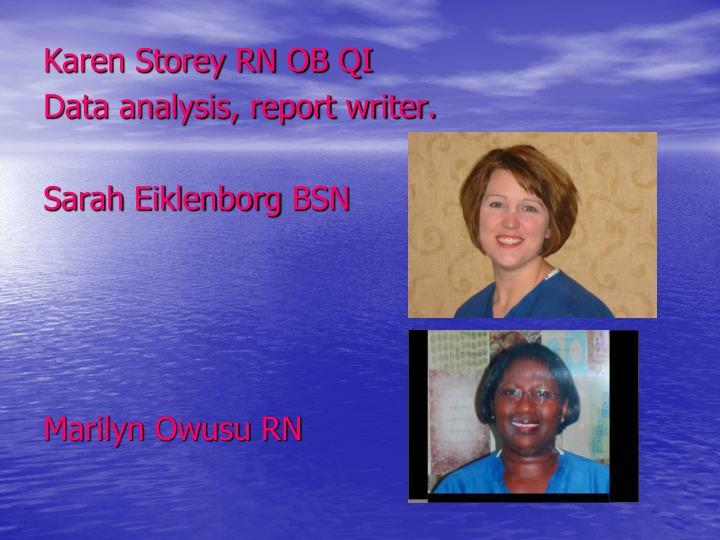 Karen Storey RN OB QI