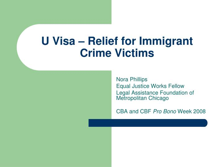 u visa relief for immigrant crime victims n.