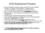 duo assessment process