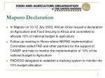 maputo declaration
