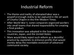industrial reform