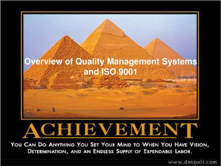 overview of quality management systems and iso 9001 n.