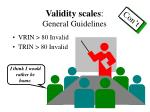 validity scales general guidelines1