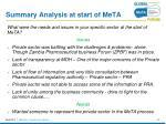 summary analysis at start of meta4