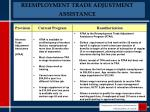 reemployment trade adjustment assistance