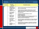 trade readjustment allowance