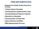 frms implementation