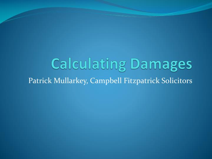 calculating damages n.