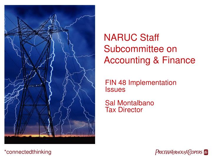 fin 48 implementation issues sal montalbano tax director n.