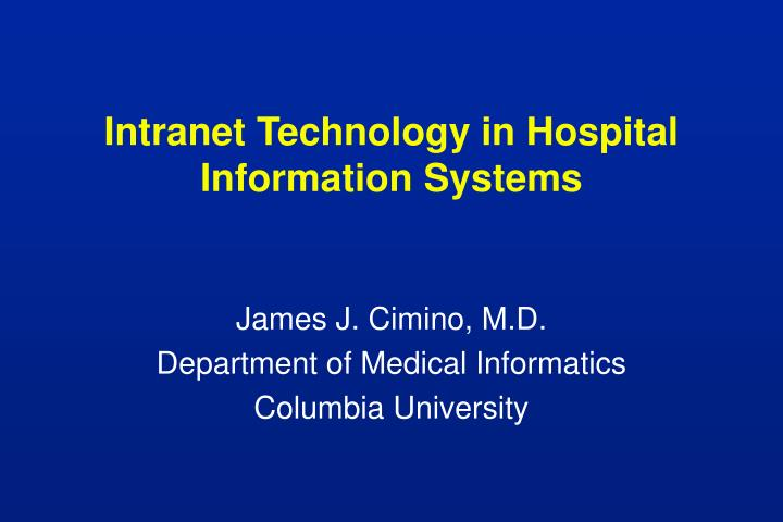 intranet technology in hospital information systems n.
