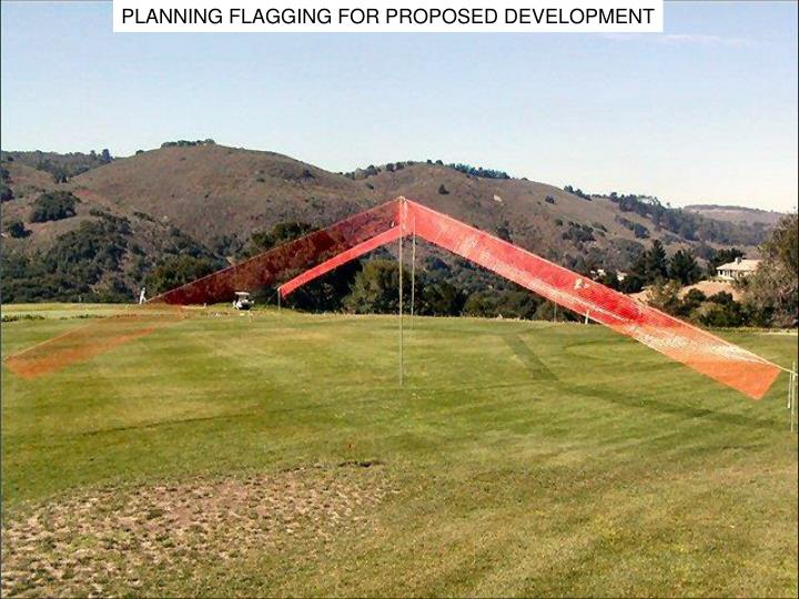 PLANNING FLAGGING FOR PROPOSED DEVELOPMENT