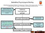 battlemind psychological briefing