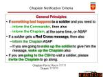 chaplain notification criteria