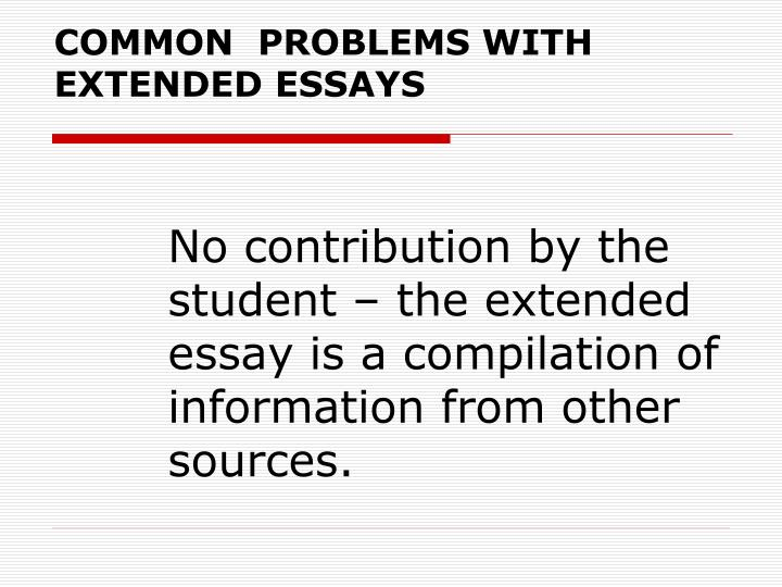 extended essay The extended essay is an opportunity to demonstrate research and writing skills, along with other traits of the ib learner profile while independent study and self-discipline are part of this task, an in-school supervisor is assigned to each student to monitor progress.