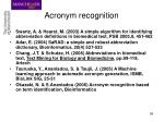 acronym recognition