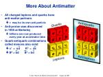 more about antimatter