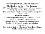 defending the faith jehovah witnesses21