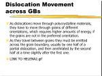 dislocation movement across gbs