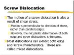screw dislocation